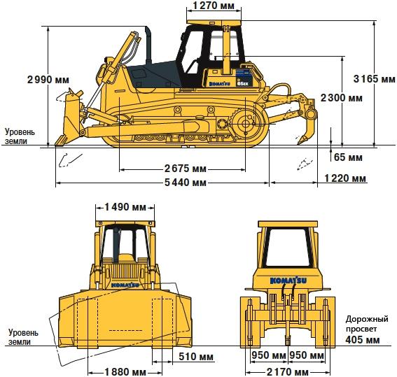 некоторых технические параметры бульдозеров комацу поезда: Например: